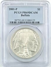 2001 P&D Buffalo PCGS PR69DCAM $1 Set