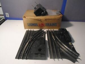 LIONEL POSTWAR 1121 SWITCH PAIR WITH FRESHLY WIRED CONTROLLER IN ORIGINAL BOX