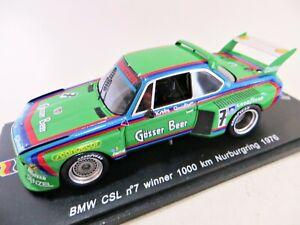 SPARK SG022 'BMW CSL #7' WINNER 1000km NURBURGRING 1976. 1:43 MIB/BOXED.