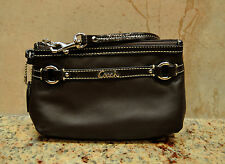 COACH F48294 Gallery Medium Wristlet Wallet Purse Brown Leather Retail $78