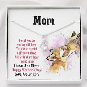 I Love You Mom Love Your Necklace Engagement Anniversary Gift for Her