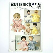 Butterick Pattern · 4144 · Doll Clothes Overall Top Dress Bunting Pinafore