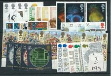 GB COMMEMS - 1989  -  EIGHT  SETS -  UNMOUNTED  MINT