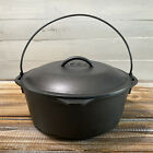 """Vintage Lodge Dutch Oven Cast Iron 10 1/4"""" No. 8 DO Made in USA"""