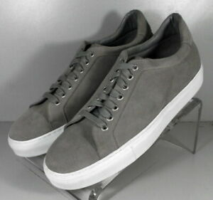 302287 TSP38 Men's Shoes Size 9 M Gray Suede Lace Up H.S. Trask