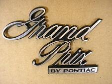 1977 Pontiac Grand Prix Header Panel Emblem, C526599