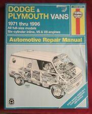 Haynes Dodge and Plymouth Vans Repair Manual 1971-1996