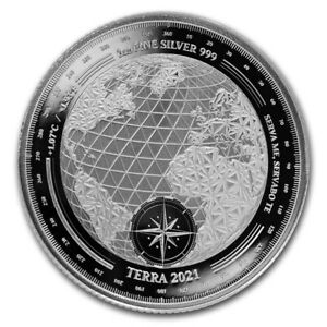 2021 Tokelau 1 oz Silver $5 Terra Prooflike