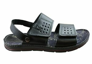 Pegada Cape Mens Leather Comfortable Sandals Made In Brazil