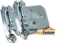 Cabinet Hardware Flush Hinges Polished Chrome (50 Pair)
