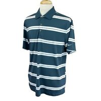 Nike Golf Men's Tour Performance Dri Fit Dark Gray Stripe Polo Shirt Large