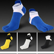6 Pairs Men's five finger toe Socks Cotton Ankle Casual Sports Low Cut Breathe