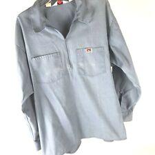 Vtg Ben Davis Long Sleeve popover Chambray Work Shirt Zip USA Made 2XL