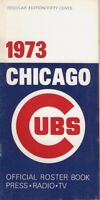 1973 Chicago Cubs Official Roster Book Media Guide VG to VG+ Williams Santo
