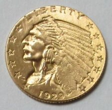 1929 $2 1/2 GOLD INDIAN COIN $2.5 QUARTER EAGLE - PLEASE READ