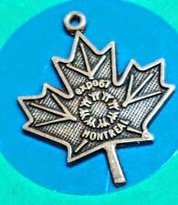 Q31 Maple Leaf Expo Sterling Silver Vintage Charm Bracelet