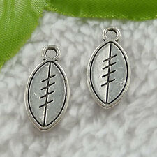 free ship 380 pieces tibet silver football charms 20x10mm #2976