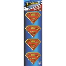 SUPERMAN Set of 4 Mini Gold Metal New Stickers/Decals DC Comics movie Super Hero