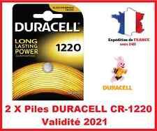 2 Pile CR-1220- DL-1220 DURACELL bouton Lithium 3V DLC 2024