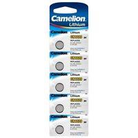 Blister 5 piles bouton Camelion CR1220/DL1220/5012LC/E-CR1220 lithium 3V