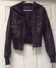 J2 Vegan Leather Dark Brown Jacket Women's XS
