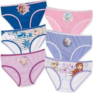 Disney Frozen Elsa Cotton Girls underwear briefs knickers 6-Pack Set 2-8 years