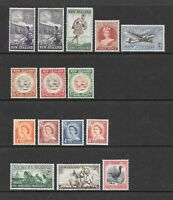 1954 Queen Elizabeth II SG737 to SG754 5 Sets of 15 Mint Hinged NEW ZEALAND
