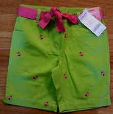 NWT Gymboree Pretty Lady Ladybug All Over Green Shorts with Sash Girls Size 4