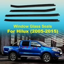 WINDOW GLASS SEALS DOOR WEATHER STRIP FOR TOYOTA HILUX Double Cab 2005-2015 AU