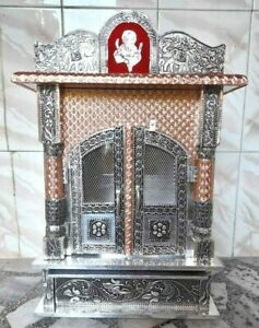 New Wooden Home Office Temple Hindu Mandir Mandap Pooja Worship Wall Art