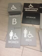 LOT OF  BRAILLE PUBLIC SIGNS