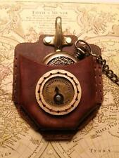 Steampunk Pocket Watch leather Holder DIY Kit. Easy to make up + Video Tutorial
