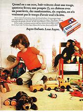 PUBLICITE ADVERTISING 084  1972  ASPRO  enfants médicaments aspirine