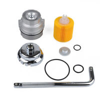 Oil Filter Housing Cap 15620-31060 & Plug 15643-31050 w/ Wrench for Toyota Camry