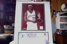 LEBRON JAMES 2004 NBA ROOKIE 12 X 16 MATTED POSTER - PHOTO & POSTAL COVER