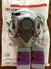 3m 6200 half facepiece respirator(2 P-100 7093 NIOSH filters included)NEW MEDIUM
