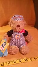 "Thomas & Friends Thomas Engineer Bear Plush 10"" Teddy w/Tags 2003"
