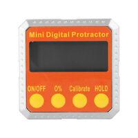 Mini 360° Angle Protractor Level Inclinometer Cube Digital Gauge Magnetic Base