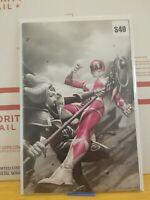 Mighty Morphin Power Rangers #50 Virgin Color Splash Variant Pink Torpedo Comics