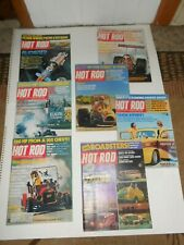 6 Vintage 1975,1972 Hot Rod Magazines January-March,May-July,1972 West Coast Van