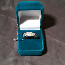 The graceful sparkling ring from white gold 14k with diamonds 0,26 TCW 2/2