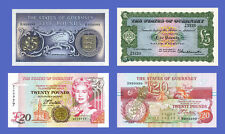 GUERNSEY - Lots of 4 notes - 5...20 Pounds - Reproductions