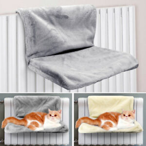 Cat Radiator Beds Pet Fleece Hanging Perch Cage Window Hammock Swing Sleep Rest