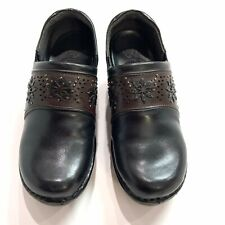ARIAT Bella Black/Brown Leather Slip On Clogs/Mules Slip Size Woman's 7B