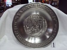 HARLEY DAVIDSON NOS COLLECTIBLE 1990 SUMMER PEWTER PLATE