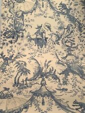 Nina Campbell Asticou Chinoiserie Blue Toile Osborne and Little Wallpaper Rolls