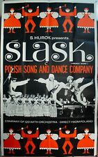 c. 1960 Slask Polish Song And Dance Orchestra Sol Hurok Poster Vintage Original