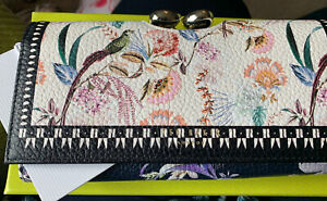 BNWT in BOX TED BAKER DECADENCE FLORAL LARGE LEATHER MATINEE PURSE DECIE