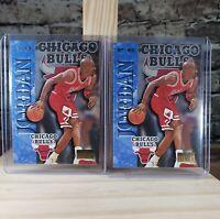 1996-97 Skybox Premium Michael Jordan Pointmen Lot (2) #217 Chicago Bulls
