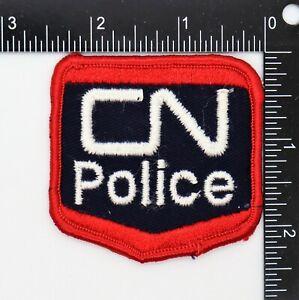 CANADA NATIONAL RAILWAYS CN POLICE PATCH (Red Edge) Vintage Original